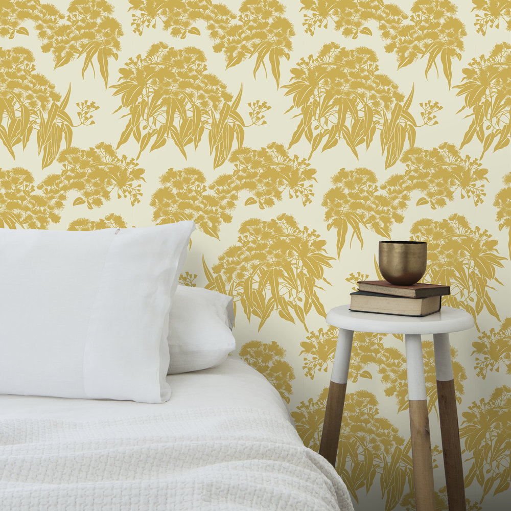 WALLPAPER FICI OCHRE WH PILLOW CLOSEUP .jpg