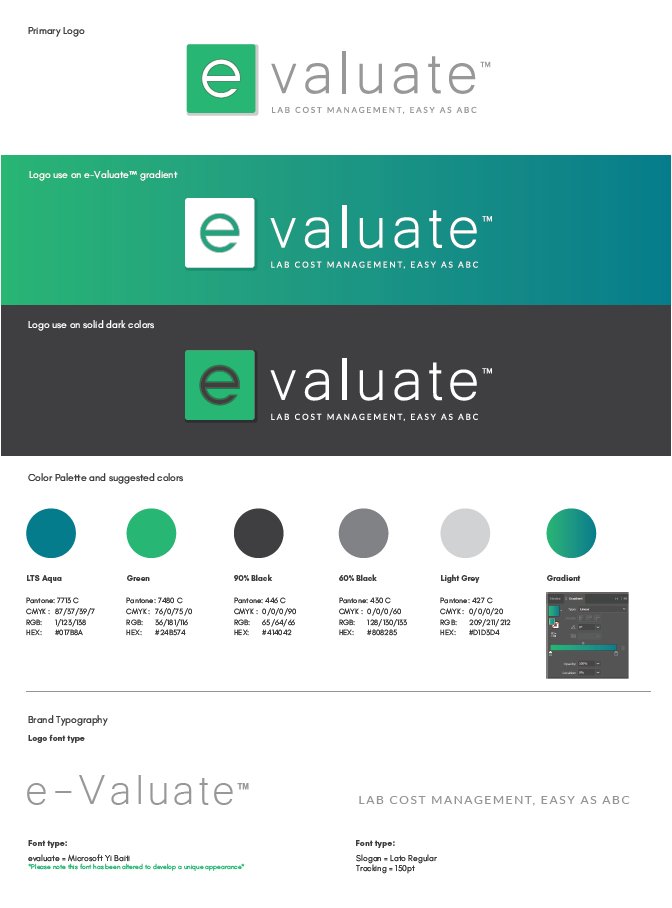 e-Valuate™ Brand Guide