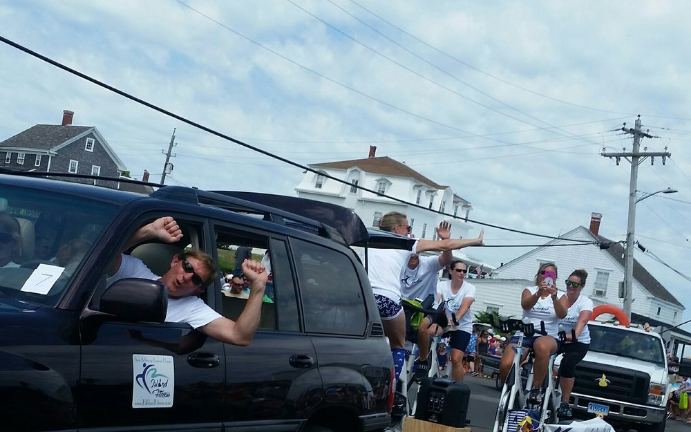Island Fitness' july 4th float!! too much fun (and a wee bit warm)