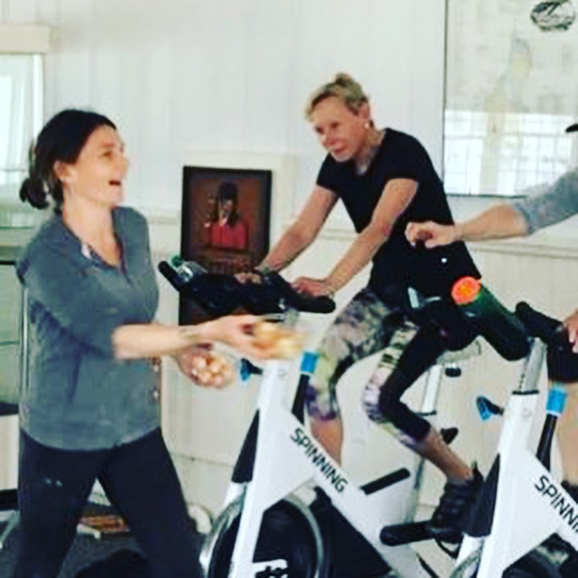 Like that time Alicia passed out samples of Vitamin Sea's yummy donuts in the middle of spin class!!