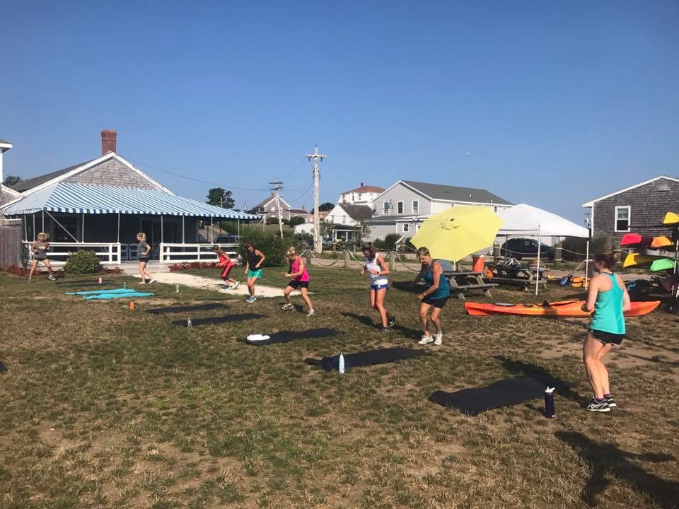 Boot camp ... on block island!  No better place for sweat Therapy!