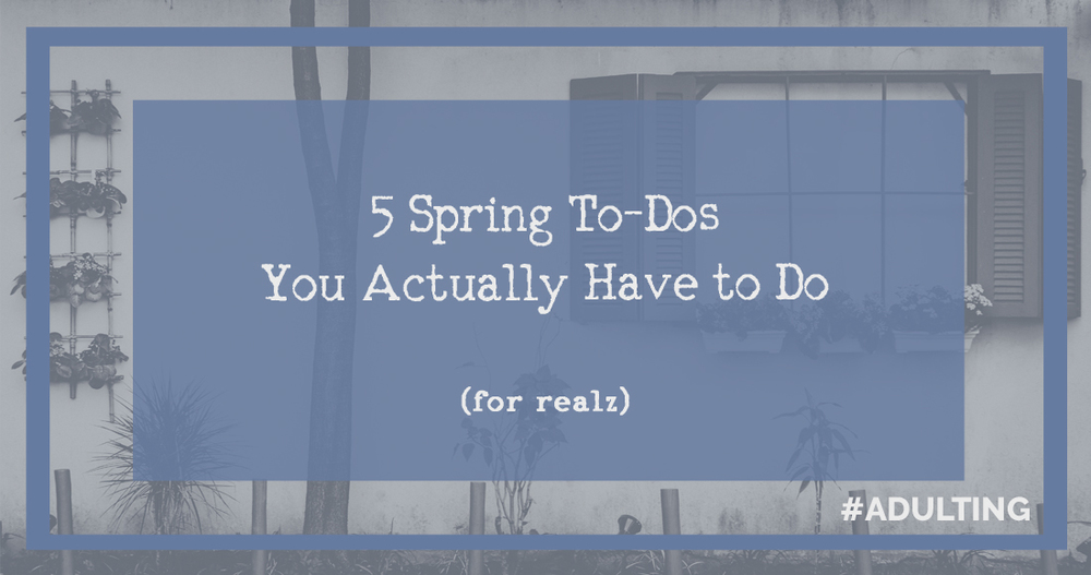 The 5 Spring To-Dos You Actually Have to Do - #Adulting | cleaning hacks tips quick easy spring house home adulting adulthood