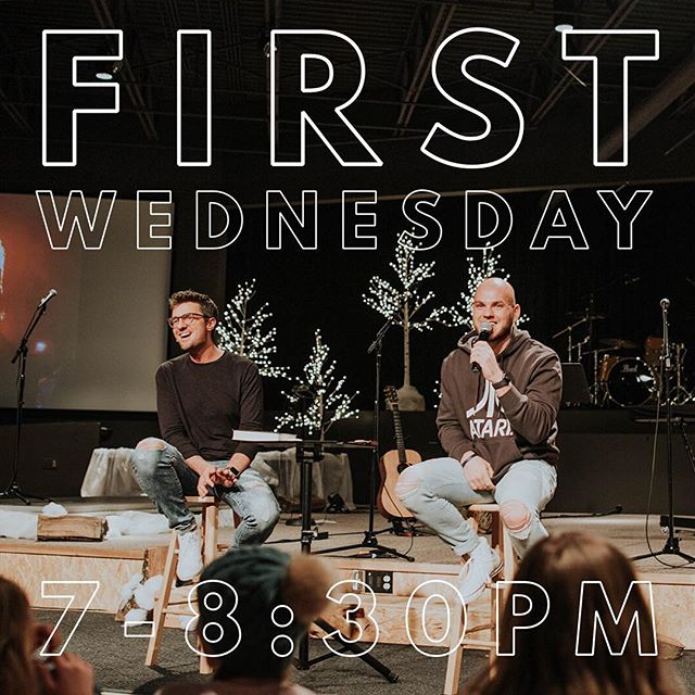 Tomorrow is First Wednesday. Food, worship, games, friends, and teaching. You do NOT want to miss this night. 7-8:30, bring a friend!