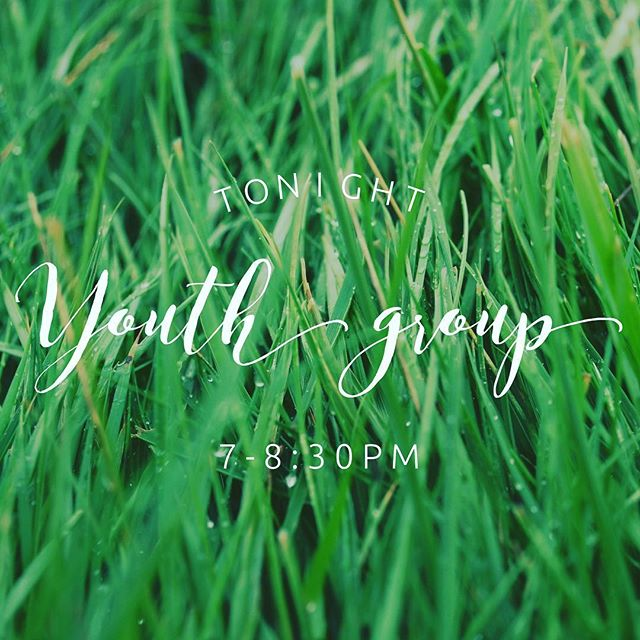 Who else is ready for it to feel like spring?! Grab your crew, youth Group is on tonight! 7-8:30 at church!