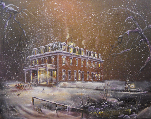 Painting of the Cimarron Hotel
