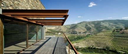 The terrace at Quinta de Napoles; what a view!
