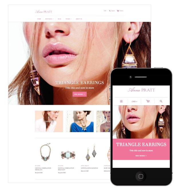 Beautifully designed Shopify websites integrate with the software's jewelry inventory control system.