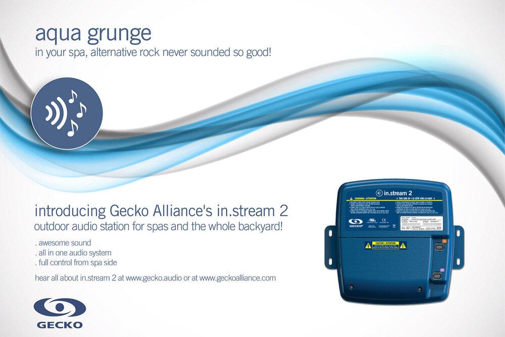 Affiche promo pour système audio in.stream 2