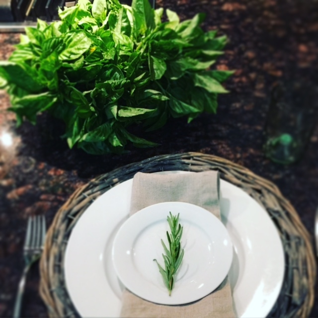 basil table setting