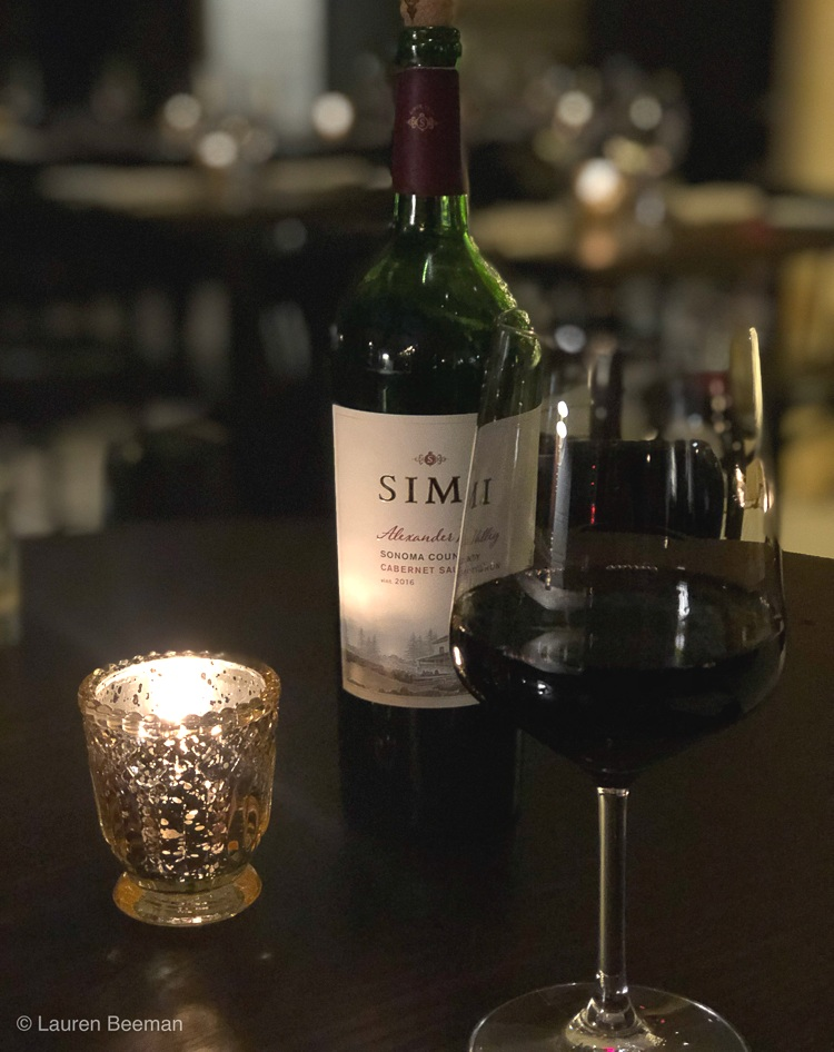 A lovely Simi Wine featured in Lazia's KC Restaurant week menu