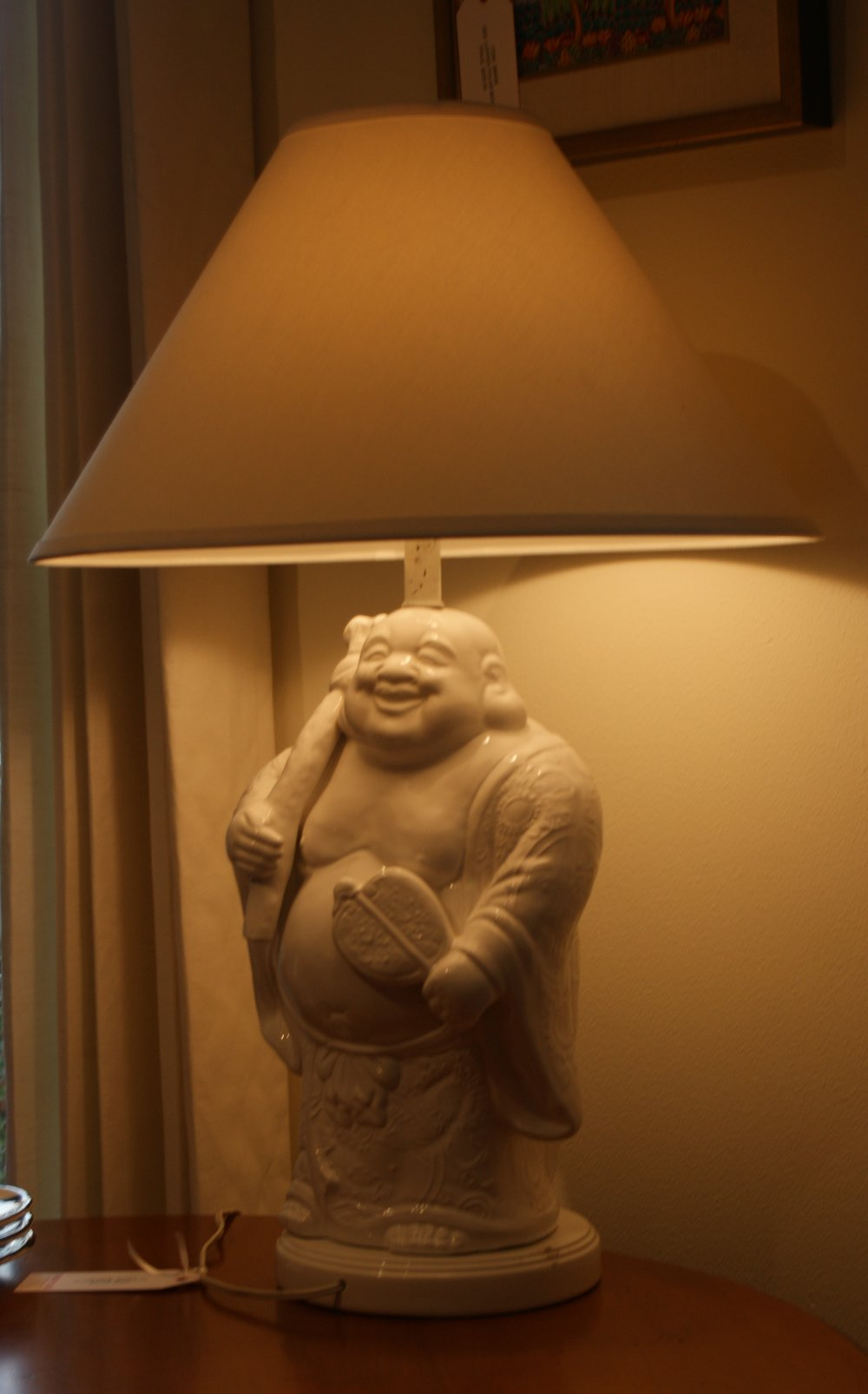 Vintage Happy Budda Lamp with Shade