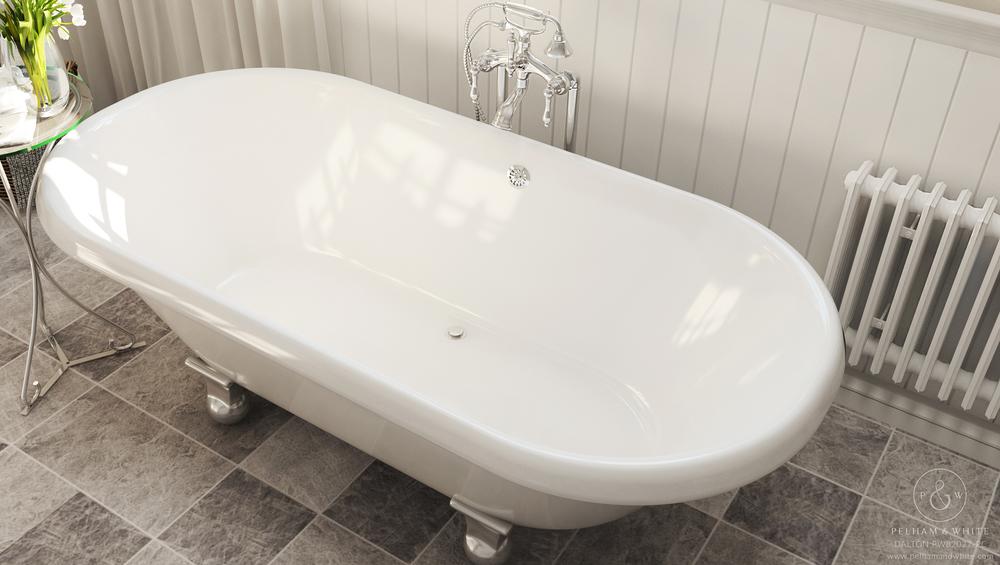 Dalton - Clawfoot Tub - Cannonball Feet in Chrome — Pelham and White