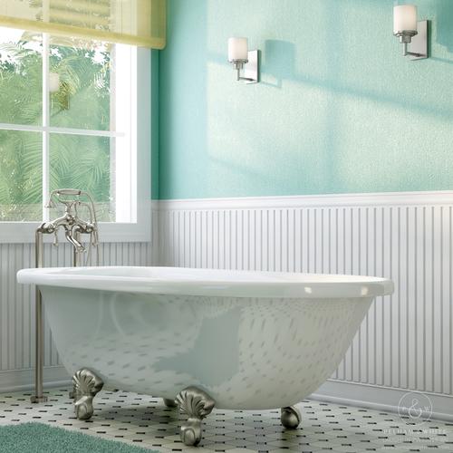 48 inch clawfoot tub. Pelham and White  Laughlin 60 inch clawfoot tub Ball Claw Feet in Brushed Clawfoot Nickel