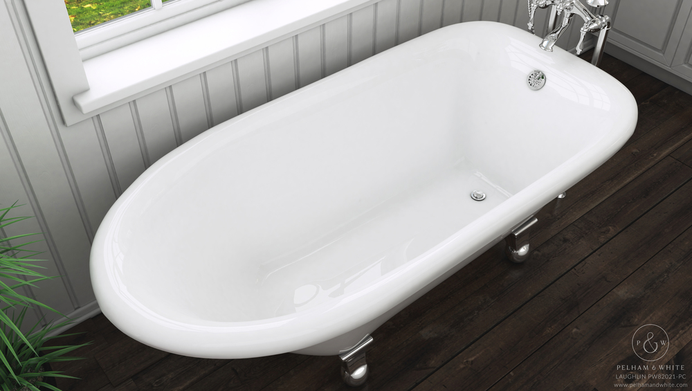 Pelham and White- Laughlin 60 inch clawfoot tub- Cannonball Feet in Chrome- 4