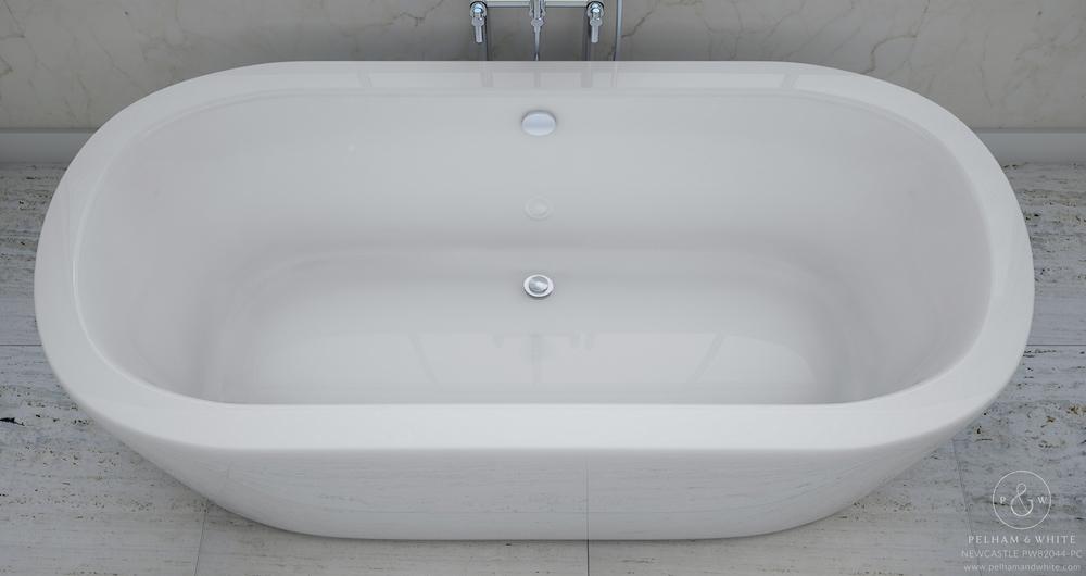 Pelham and White- Newcastle 67 inch freestanding tub- Chrome Drain- 4