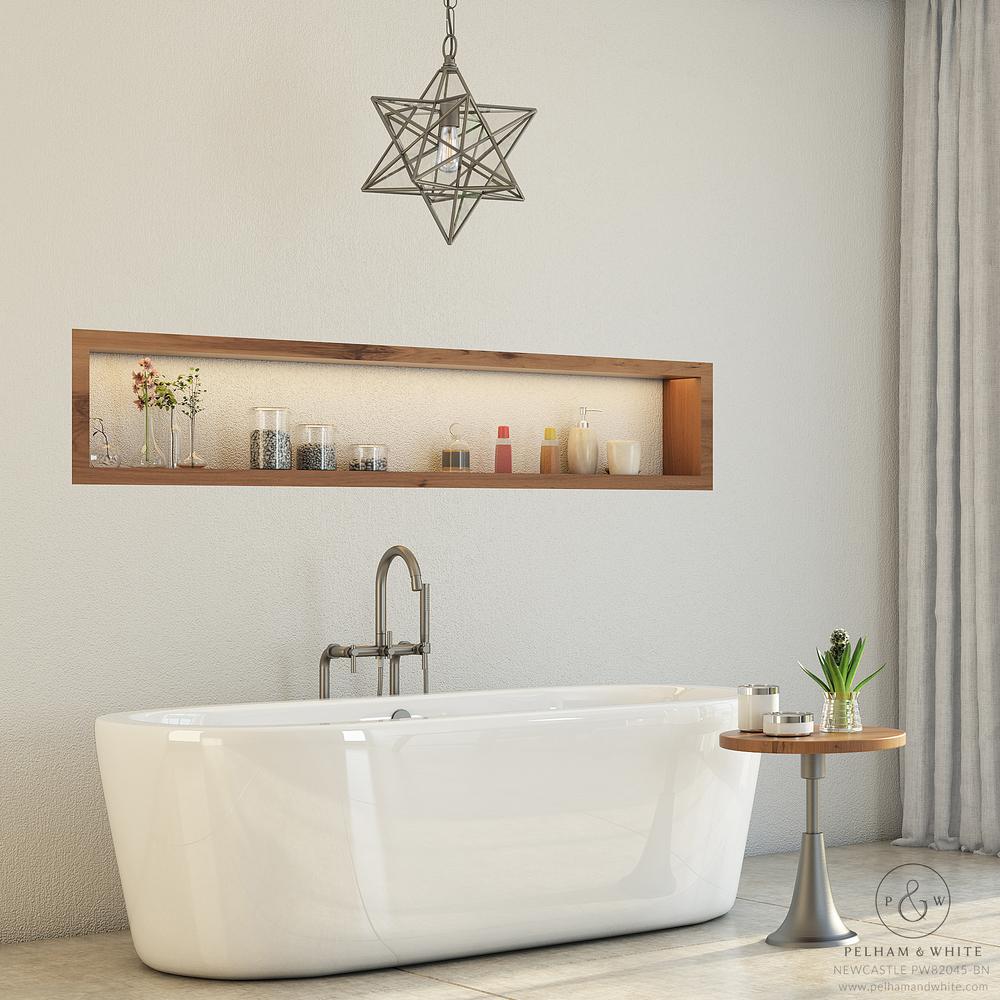 Pelham and White- Newcastle 67 inch freestanding tub- Brushed Nickel Drain- Main