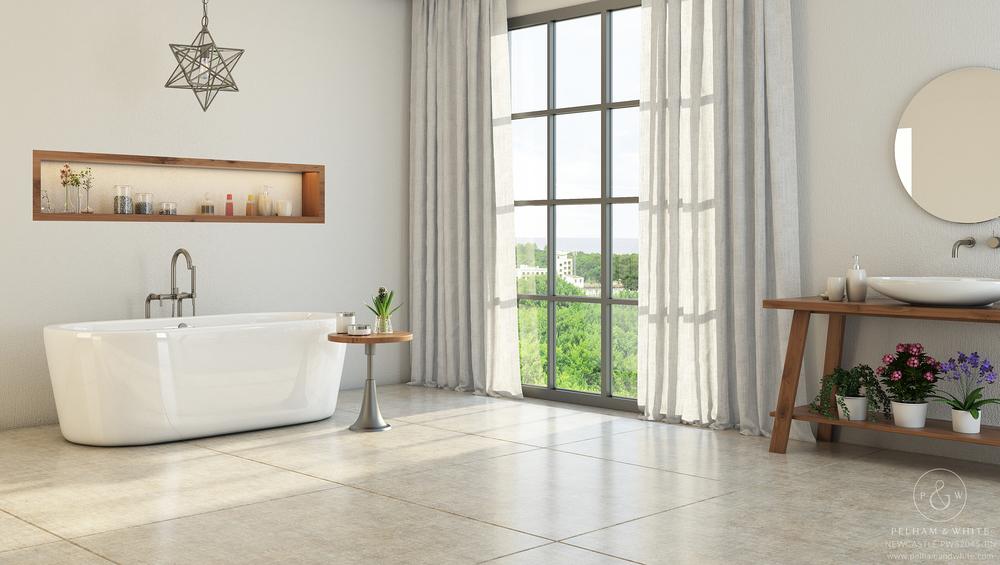 Pelham and White- Newcastle 67 inch freestanding tub- Brushed Nickel Drain- 1