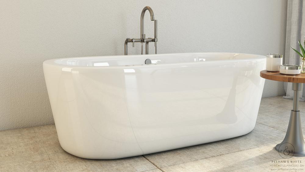Pelham and White- Freestanding 67 inch freestanding tub- Chrome Drain- 2