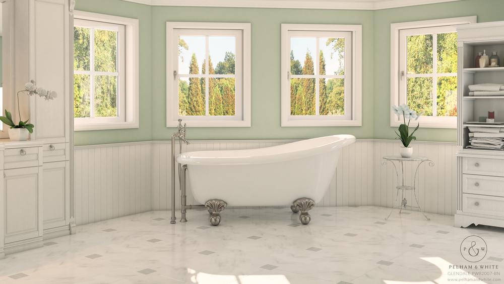 """Glendale 67"""" Slipper Clawfoot Tub"""