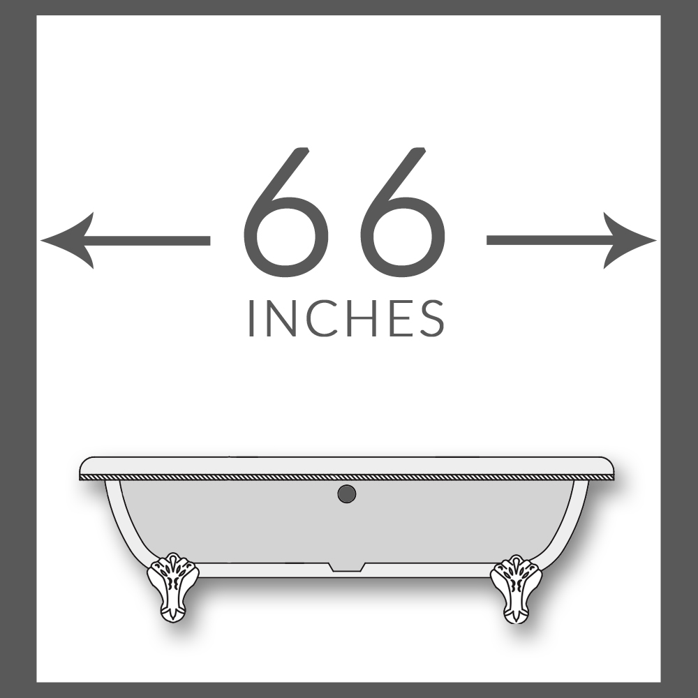 "60"" Tubs for 66"" Spaces"