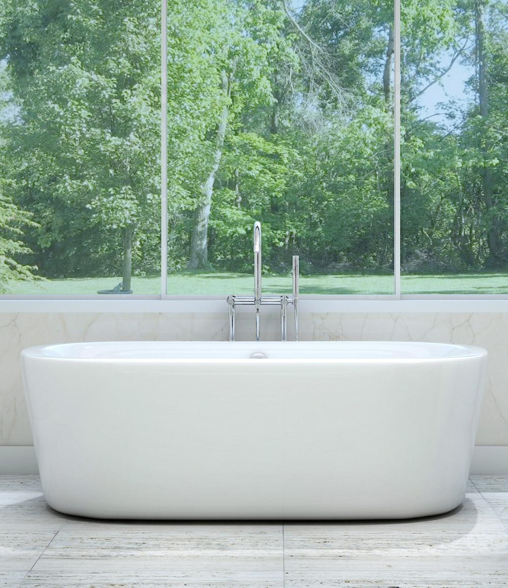 Pelham and White Freestanding Tub