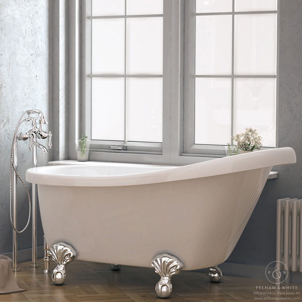 "Pelham and White Brookdale 60"" Clawfoot Slipper Tub"