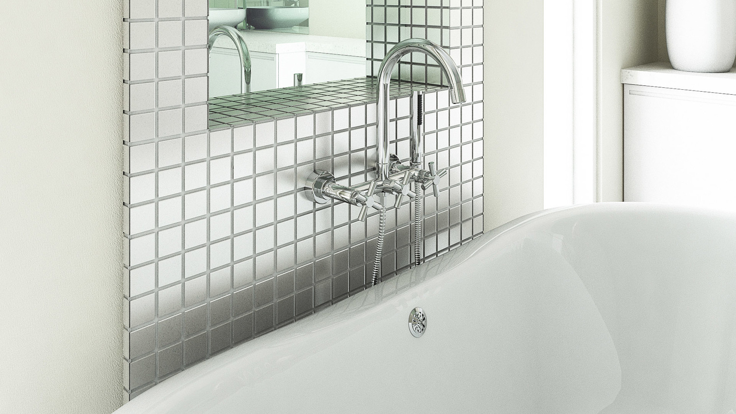 Modern Wall-Mount Tub Fillers — Pelham and White