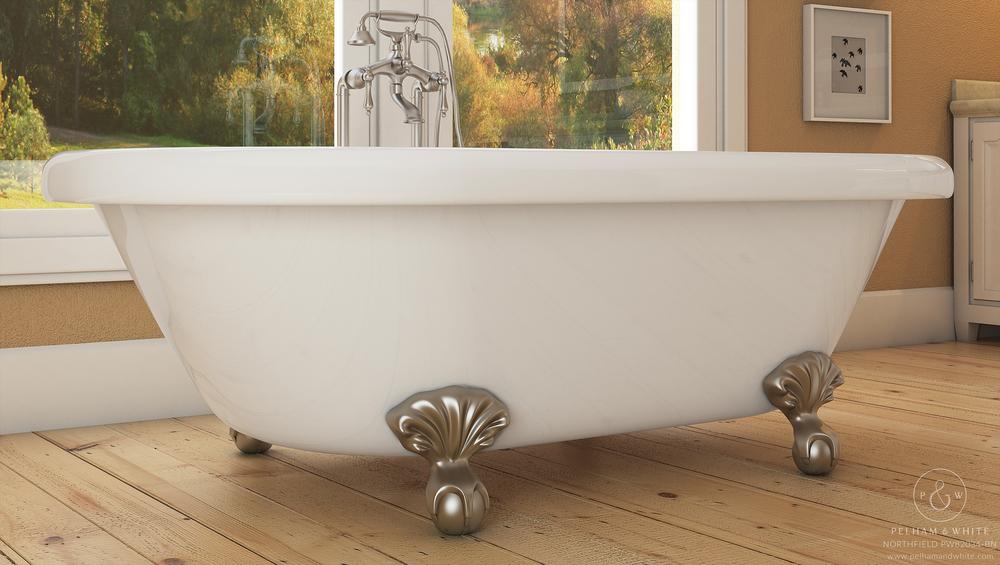 "Northfield 72"" Clawfoot Tub in Nickel"