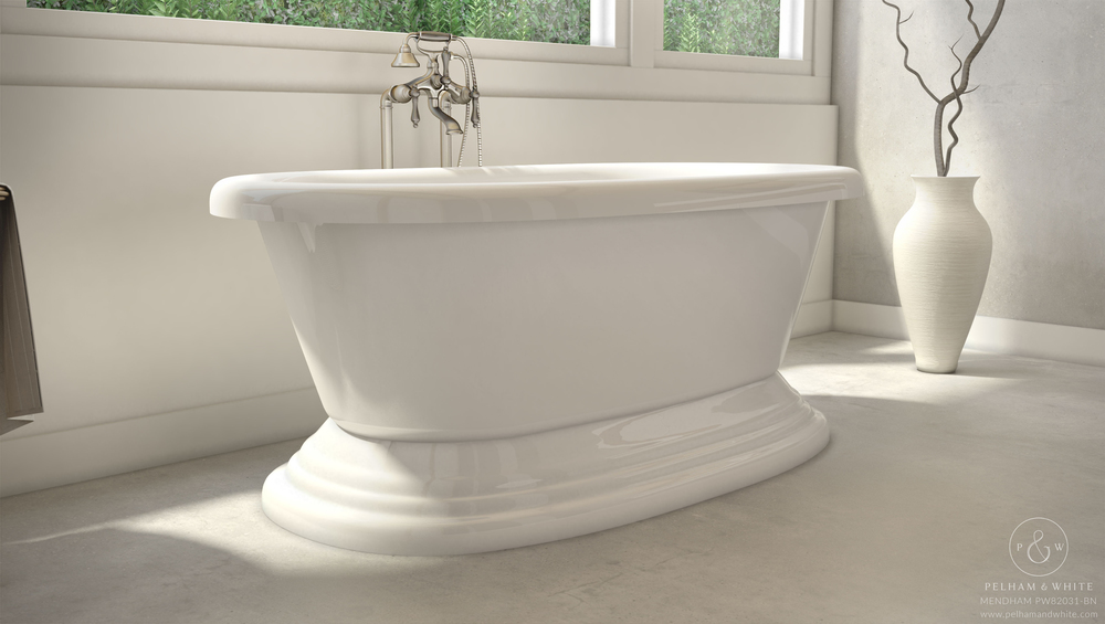 """Mendham 60"""" Stand Alone Tub in Nickel"""