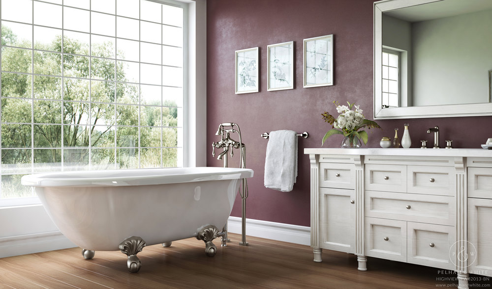 Pelham and White  Highview 54  Clawfoot Tub in White with Nickel Clawfeet.jpg