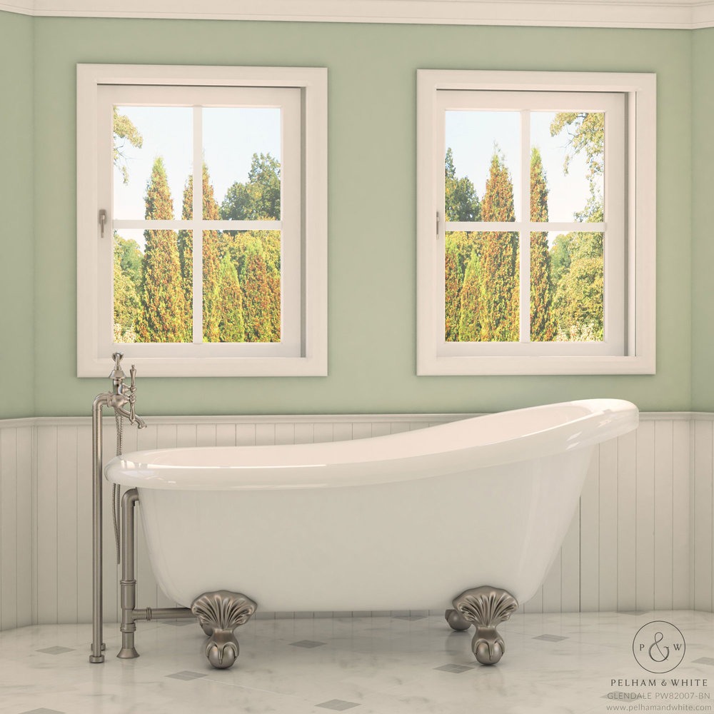 Glendale- Clawfoot Brushed Nickel — Pelham and White