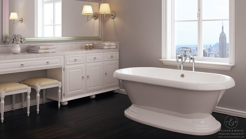 "Mendham 60"" Freestanding Tub in Chrome"