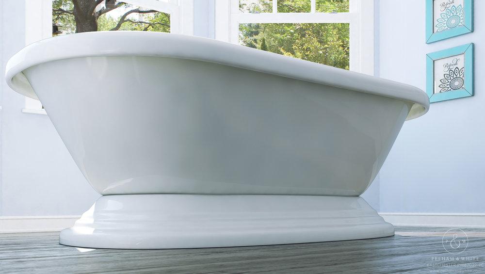 "Eastchester 72"" Pedestal Tub in Chrome"
