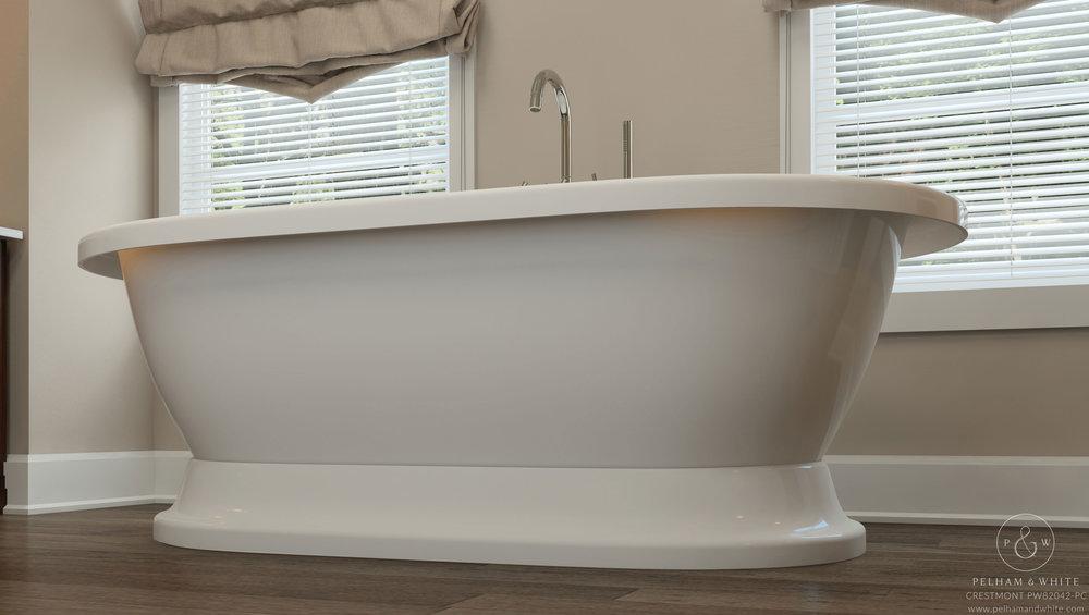 "Crestmont 67"" Pedestal Tub in Chrome"