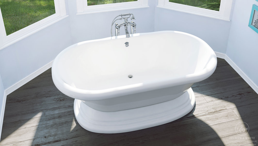 """Eastchester 72"""" Stand Alone Tub in Chrome"""