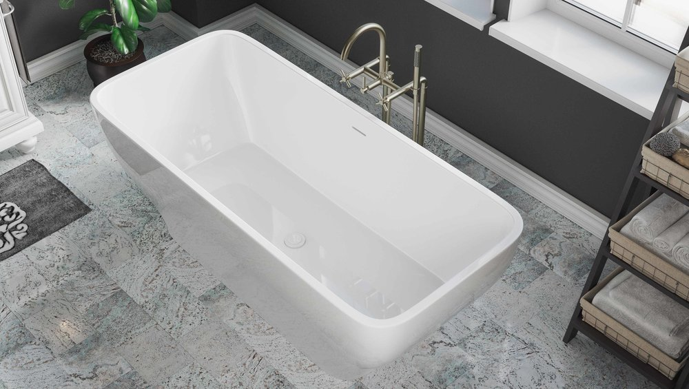 Pelham and White- Cambridge 67 inch freestanding tub- Chrome Drain- 2