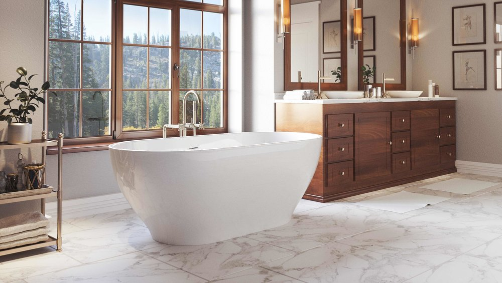 Pelham and White- Palisades 71 inch freestanding tub- Chrome Drain- 1