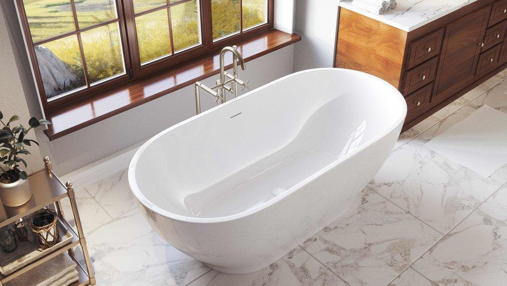 Pelham and White- Palisades 71 inch freestanding tub- Chrome Drain- 2