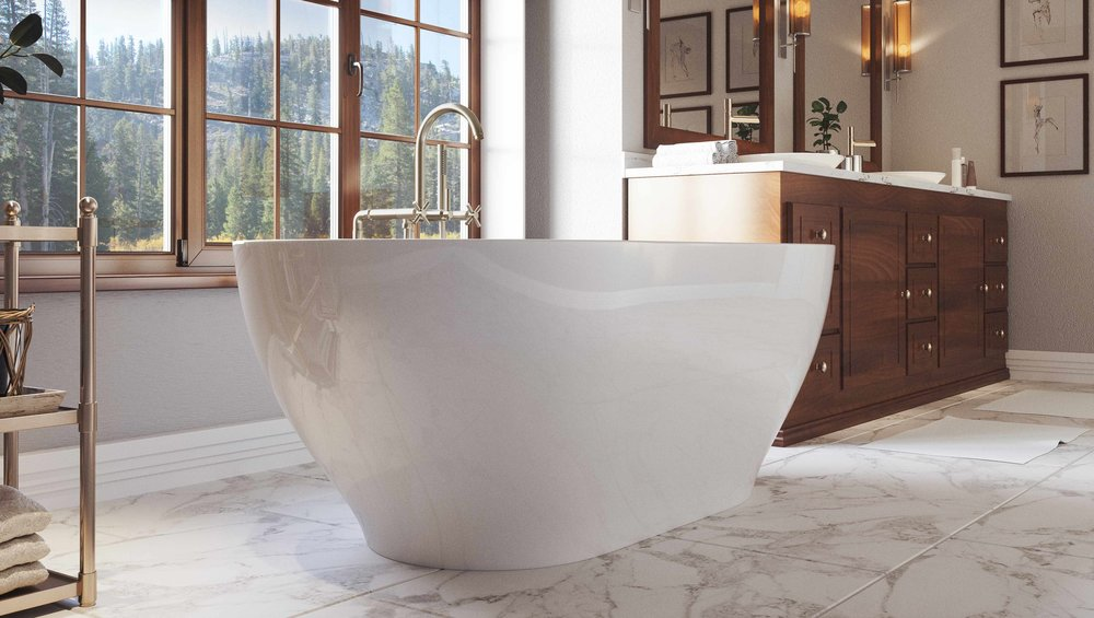 Pelham and White- Palisades 71 inch freestanding tub- Chrome Drain- 3
