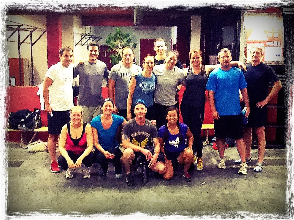 Our morning crew at CrossFit Assault in Germany. Oh, look John Williamson is in this one (behind Grace).
