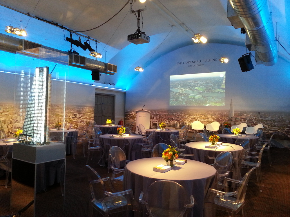 PRESENT  AV design and production at Smeatons Vault, The Brewery, London; global conference