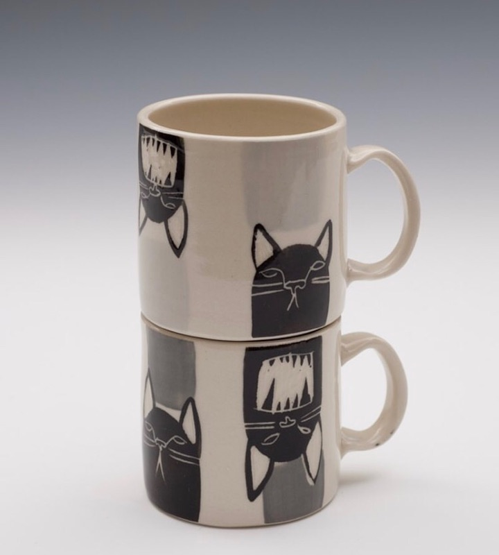 STACKING ESPRESSO MUGS, SARAH LECKIE CERAMICS