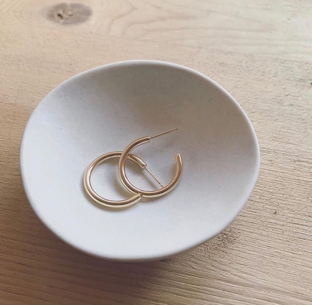 LARK HOOPS IN 14K GOLD FILLED OR STERLING SILVER, HART + STONE