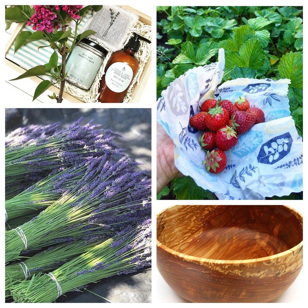 CLOCKWISE FROM LEFT TO RIGHT: PURE GIFT BOXES, WESTERLY CREATIONS, FROM THE GARDEN SHED, GEOJAB BOWLS