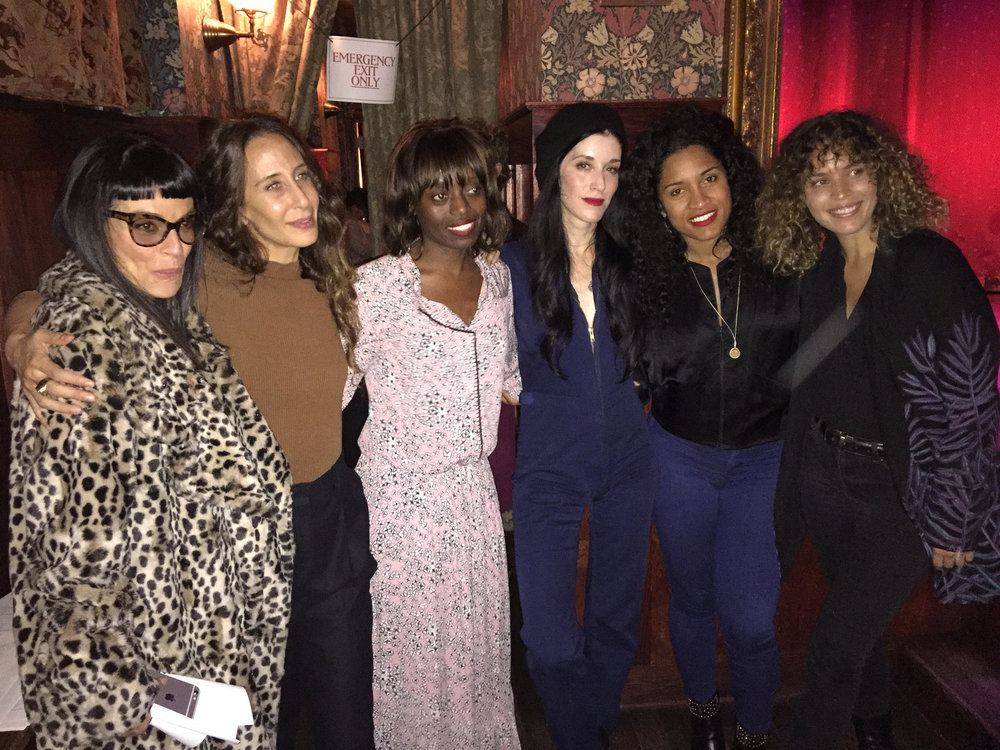 Amazing women from the Town Hall event. Left to Right: Norma Kamali, Mara Hoffman, Dee Poku, Sarah Sophie Flicker, De'Ara Balenger, Cleo Wade
