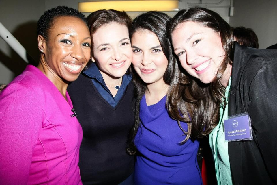 Me, Sheryl Sandberg (an early Levo supporter), and Levo cofounders Caroline Ghosn and Amanda Pouchout