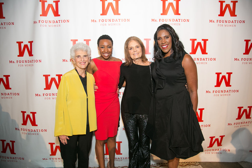 With Marie Wilson, Gloria Steinem, and Teresa Younger