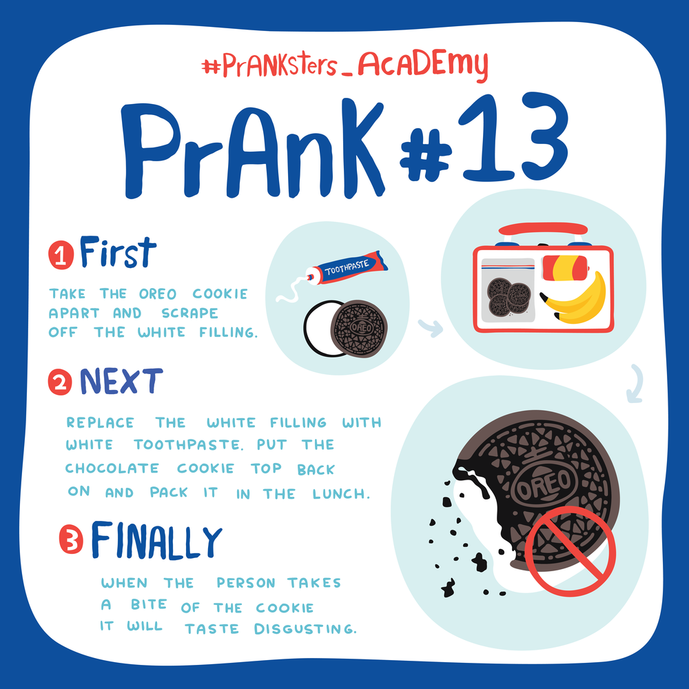 Prank #13: Oreo Cookie With Toothpaste