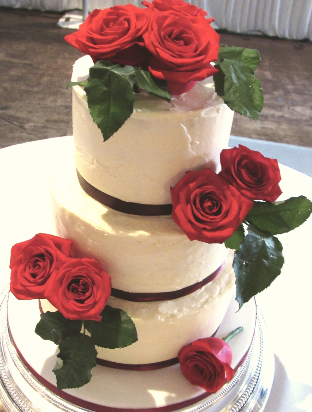 Romantic Red Roses Wedding Cake Caked