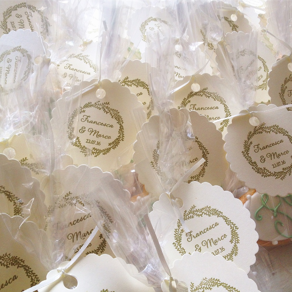 Packaged Monogram Favours